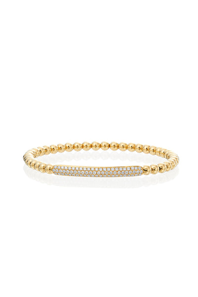 Boyds Essentials, 18kt Yellow Gold Flexible Diamond Bracelet