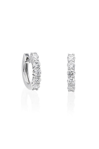 Boyds Essentials, 14kt White Gold Diamond Hoop Earrings