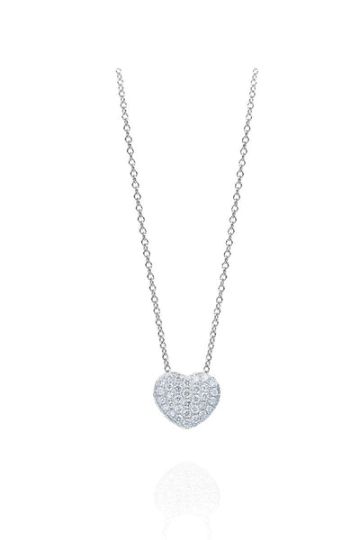 Boyds Essentials, 18kt White Gold Pave Heart Pendant