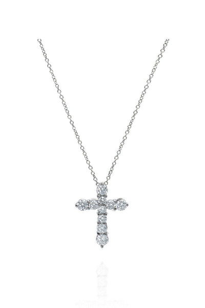 Boyds Essentials, 18kt White Gold Diamond Cross Pendant