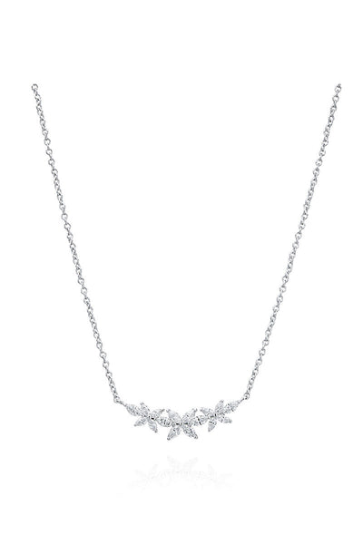 Boyds Essentials, 18kt White Gold Marquise Diamond Pendant