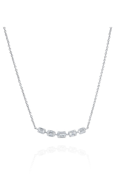 Boyds Essentials, 18kt White Gold Illusion Diamond Pendant