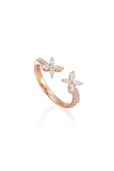 Boyds Essentials, 18kt Rose Gold Marquise Diamond Ring