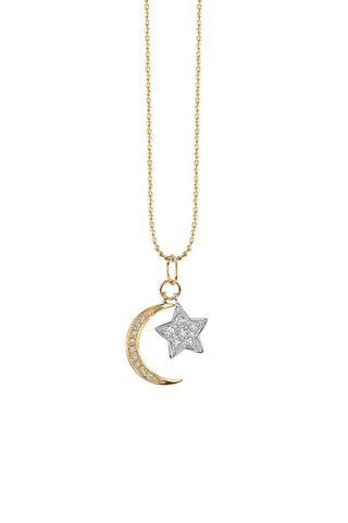 Sydney Evan, Moon & Star Necklace