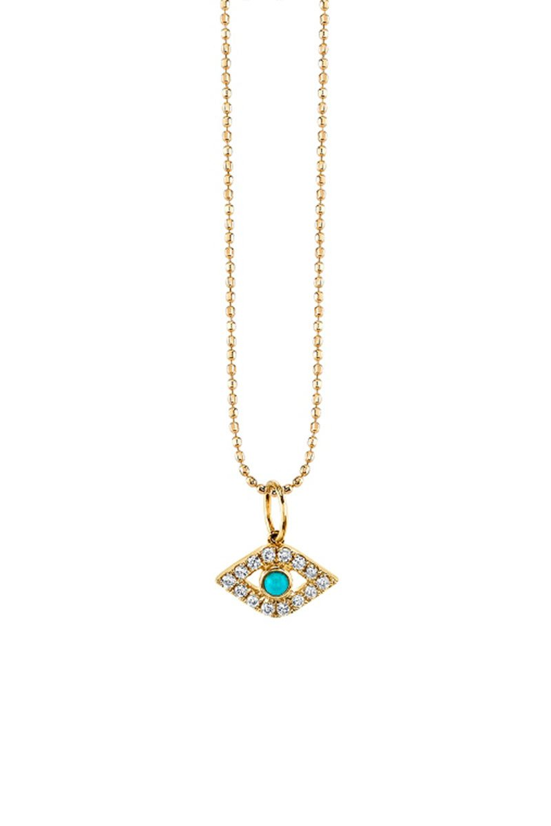 Sydney Evan, Evil Eye Charm Necklace