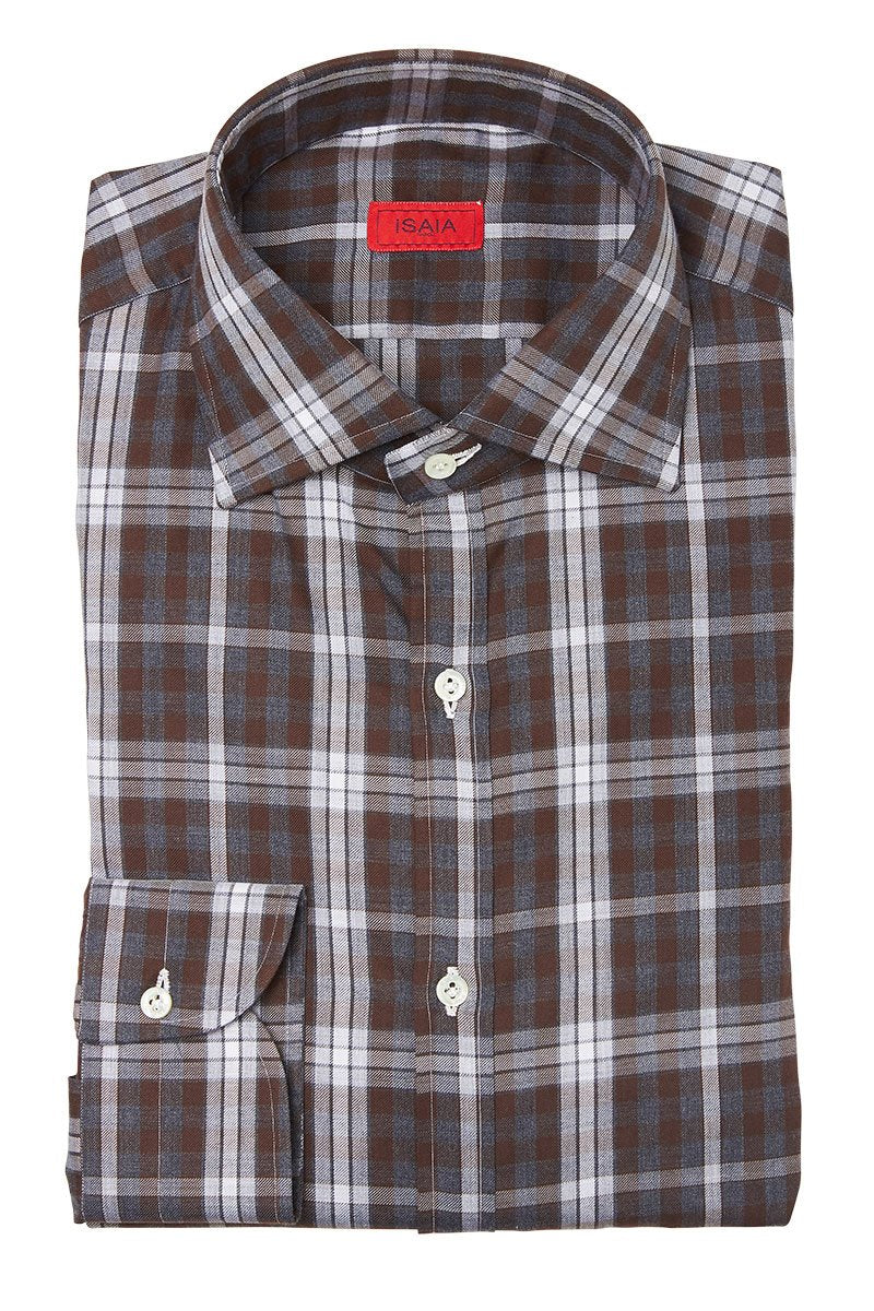 ISAIA, Plaid Sportshirt
