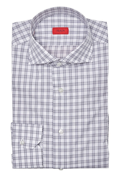 , Grey Check Dress Shirt