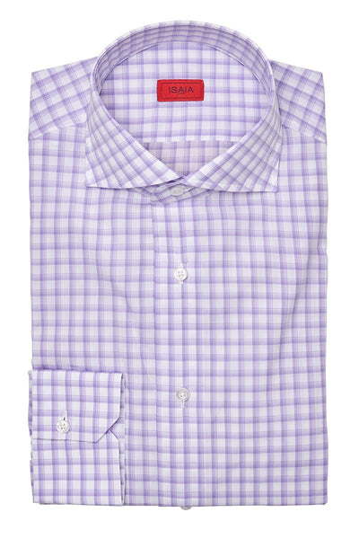 , Violet Check Dress Shirt