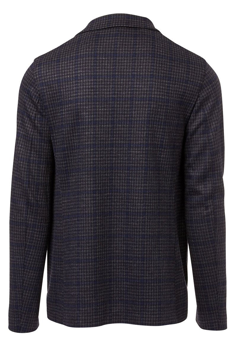 , Windowpane Checked Blazer