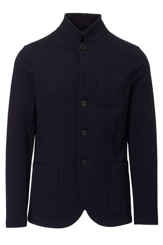 Harris Wharf London, Stand Collar Herringbone Jacket