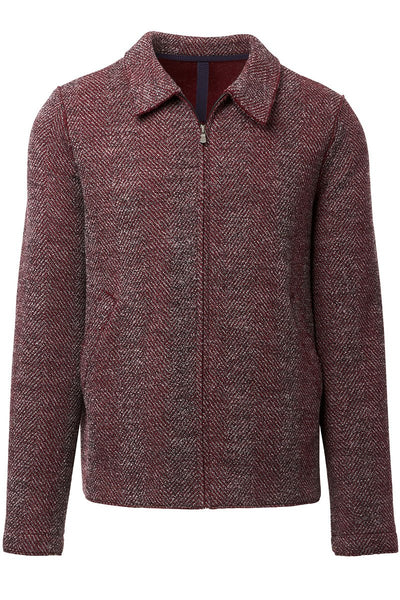 Harris Wharf London, Herringbone Aviator Jacket
