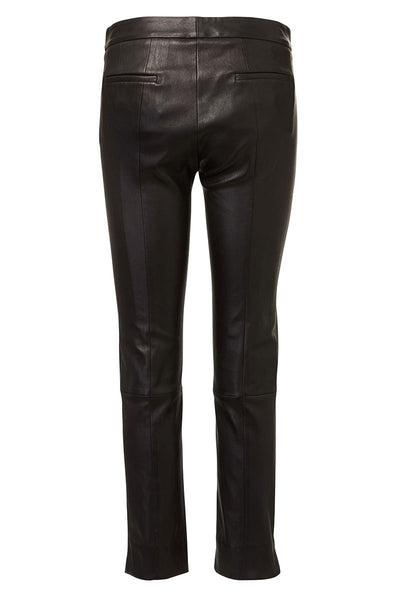 Drake Crop Leather Trousers