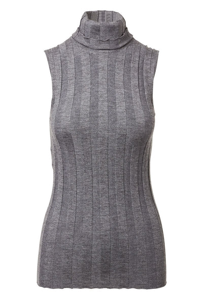 Derek Lam, Ribbed Sleeveless Turtleneck