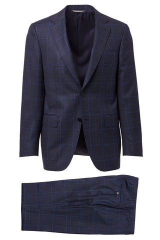 Notched Lapel Plaid Suit