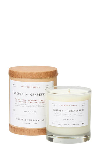 Manready Mercantile, Juniper & Grapefruit Candle