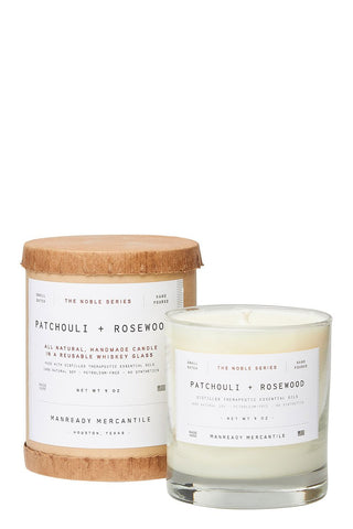 Manready Mercantile, Patchouli & Rosewood Candle
