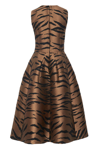 Carolina Herrera, Tiger Print Midi Dress