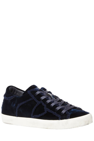 Paris Laminé Velour Sneakers