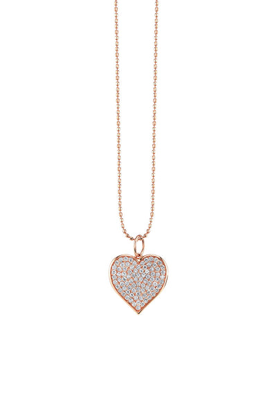Sydney Evan, Pavé Heart Necklace