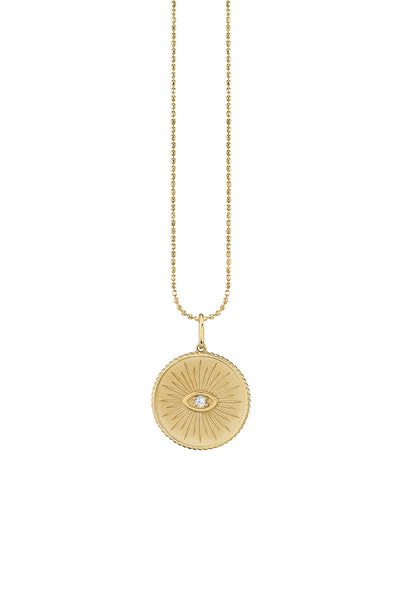 Sydney Evan, Marquis Eye Coin Necklace