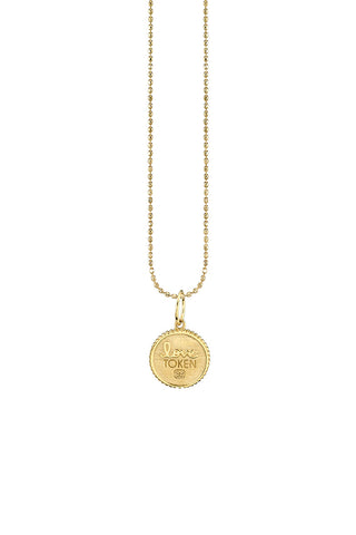 Sydney Evan, Small Marquis Eye Coin Necklace