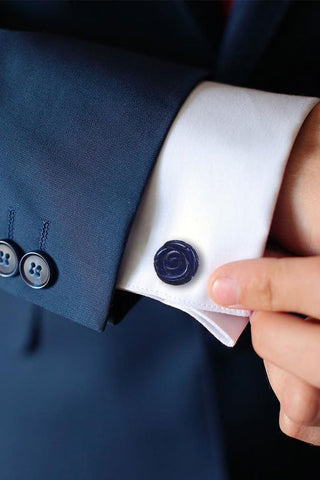 Rose Lapis Cufflinks