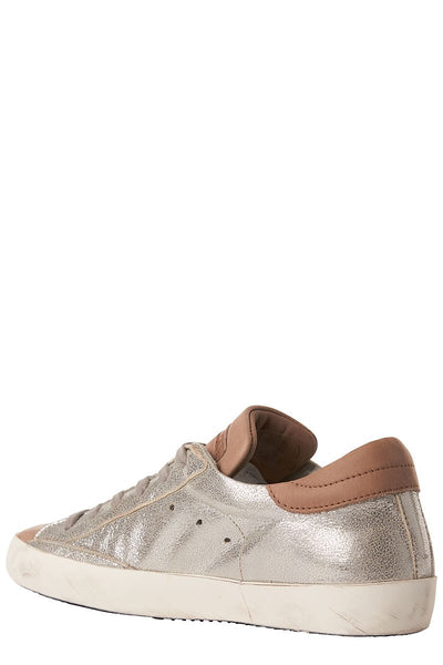 Paris Metallic Leather Sneakers