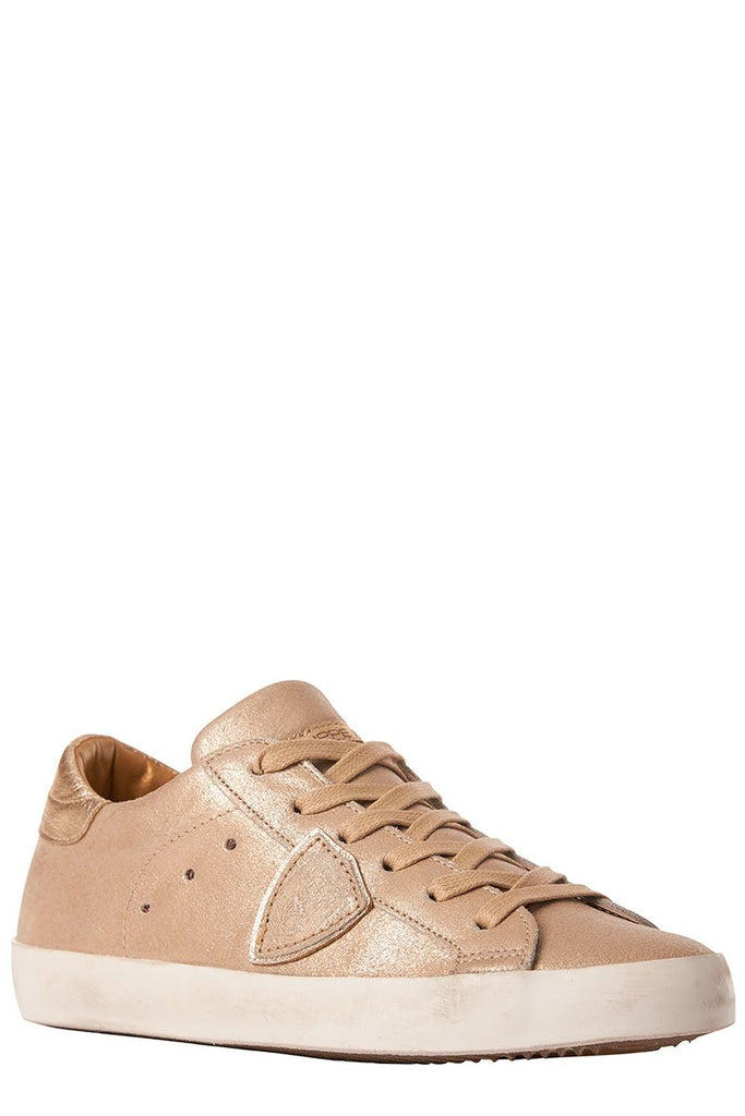 Paris Gold Leather Sneakers