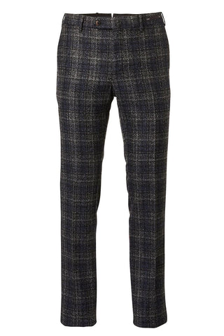 Brushed Plaid Trousers