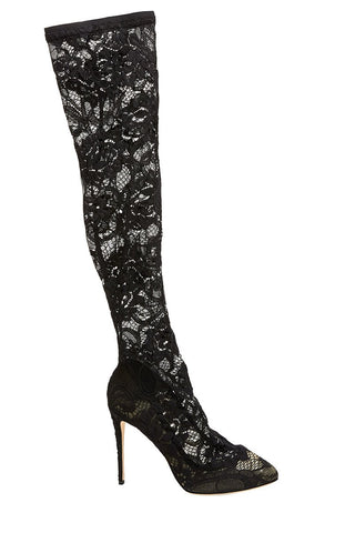Dolce & Gabbana, Coco Stretch Lace Boots