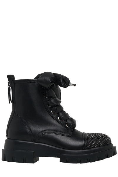 Studded Voile Biker Boots