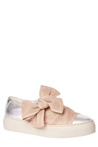 Leather Bow Sneakers