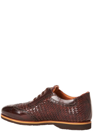 Dinamico Woven Leather Sneakers