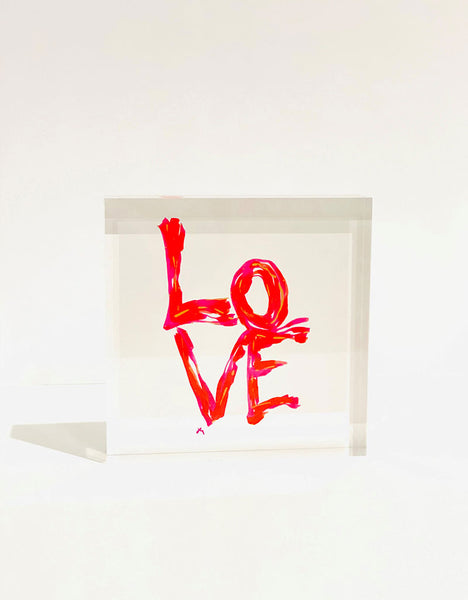"""Love No. 4"" Acrylic Block"