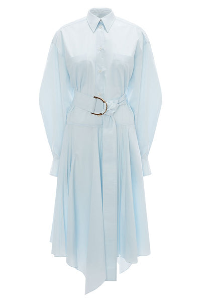 Pleated D-Ring Shirt Dress