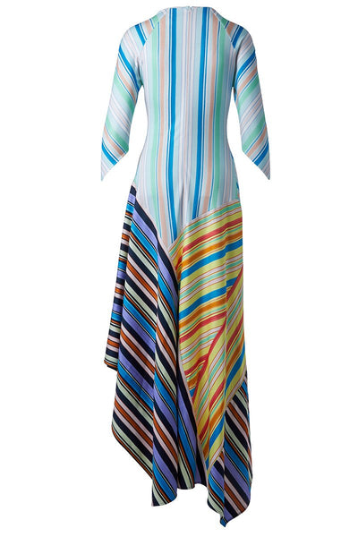 Peter Pilotto, Asymmetric Striped Maxi Dress