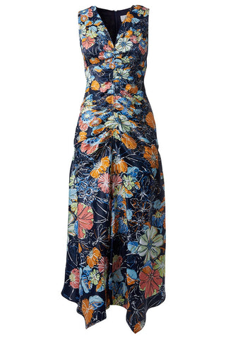 , Ruched Floral Maxi Dress