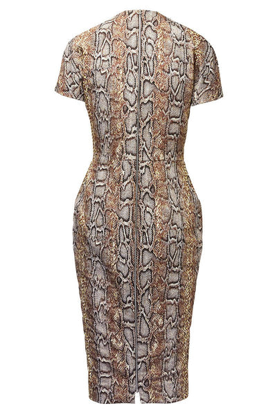 Victoria Beckham, Snake Jacquard T-Shirt Dress