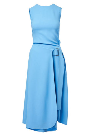 Belted Flare Midi Dress