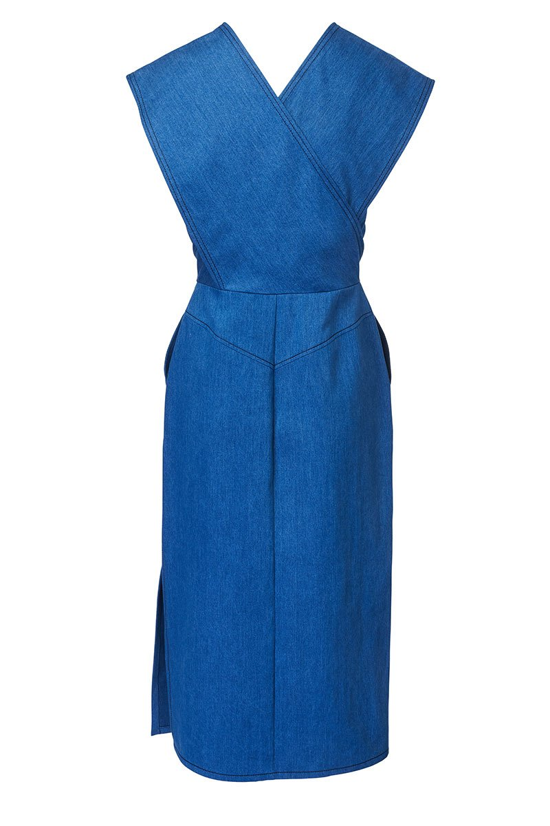 Derek Lam, Denim Wrap Dress