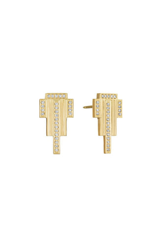 Empire Long Stud Earrings