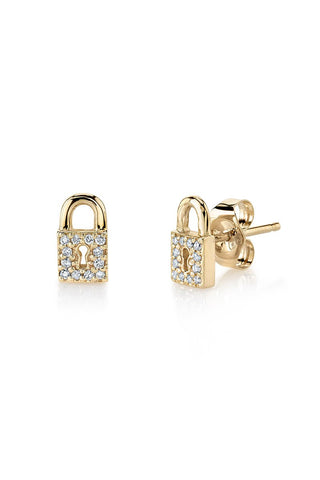 Lock Stud Earrings