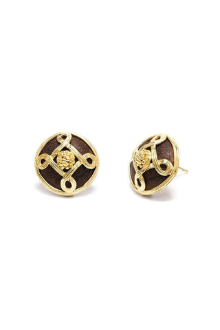 Capucine De Wulf, Earth Goddess Monique Stud Earrings