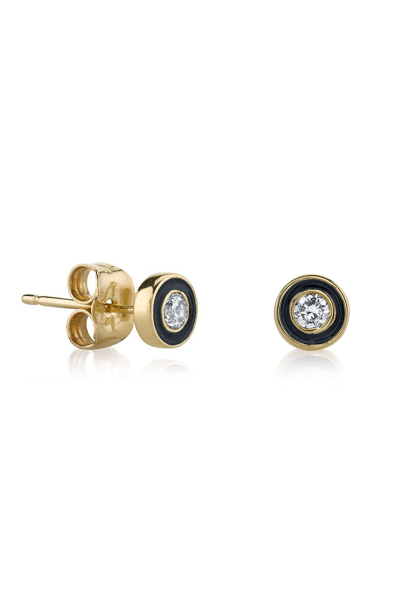 Sydney Evan, Single Stone Stud Earrings