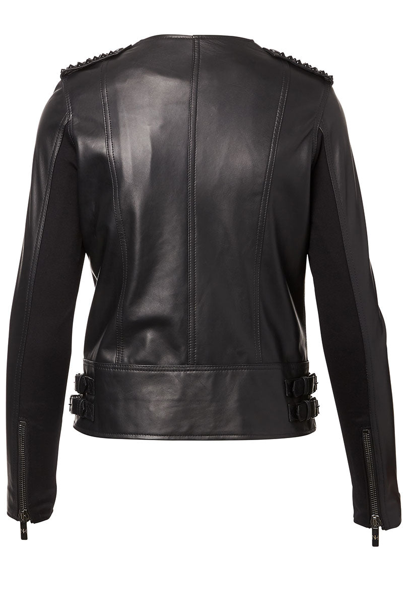 Erin Studded Leather Jacket