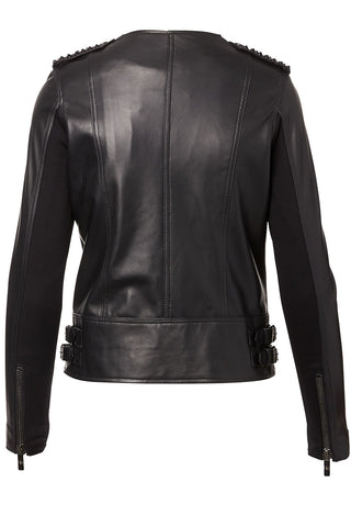 Nour Hammour, Erin Studded Leather Jacket