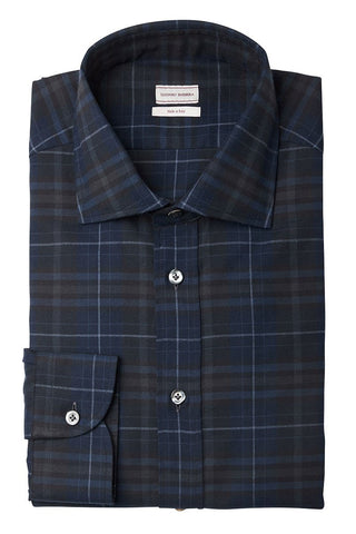 Navy Plaid Sportshirt