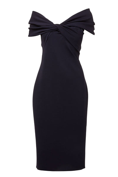 Twist Front Pencil Dress