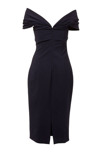 CUSHNIE, Twist Front Pencil Dress