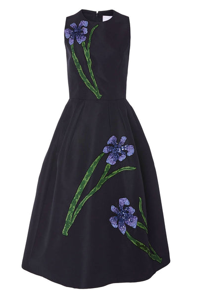 Carolina Herrera, Floral Embroidered Dress